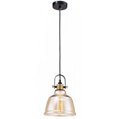 beżowa lampa wisząca ze szkła