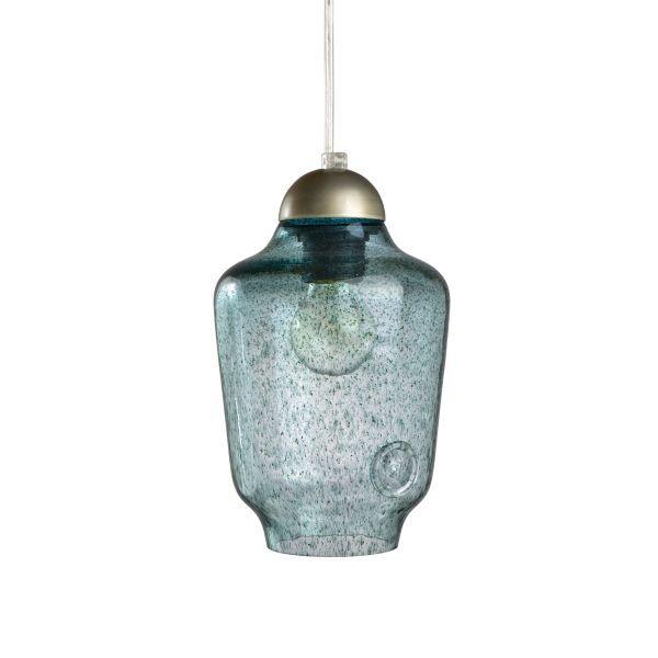 polska lampa z barwionego szkła