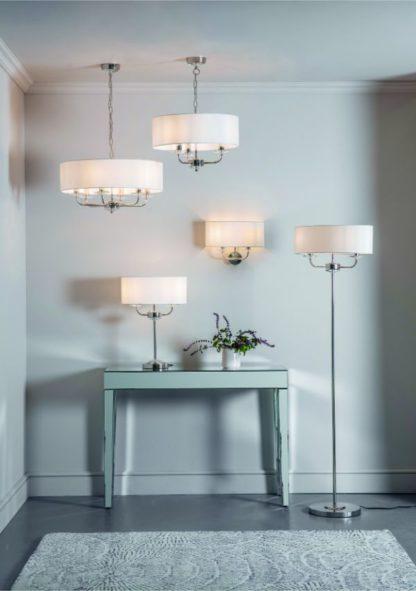 klasyczne oświetlenie do salonu aranżacja