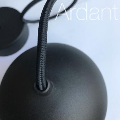lampa czarna mała kula wisząca