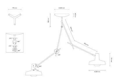 Lampa wisząca z dwoma źródłami światła Arigato II - Grupa Products