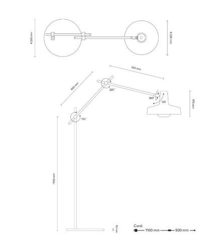Nowoczesna lampa podłogowa Arigato - Grupa Products
