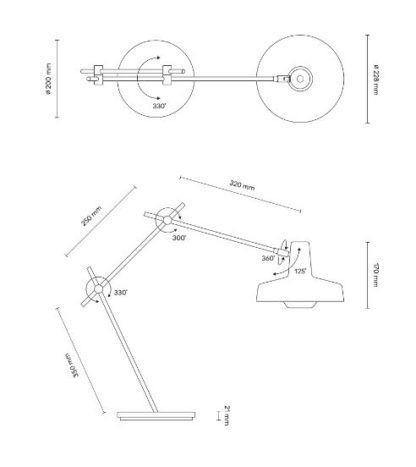 Nowoczesna lampa biurkowa Arigato - Grupa Products