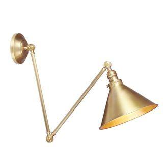 Złota lampa Arles - regulacja klosza i ramienia