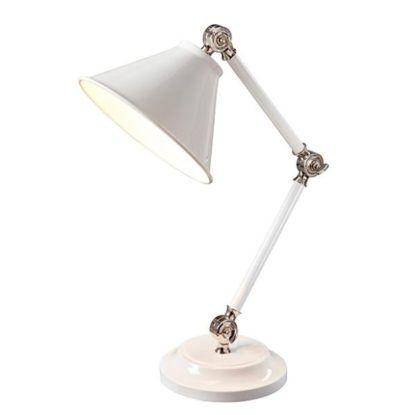 klasyczna, elegancka lampa stołowa do biura i gabinetu