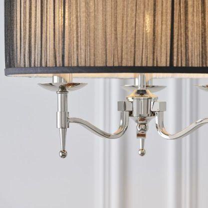 klasyczna lampa wisząca czarny abażur