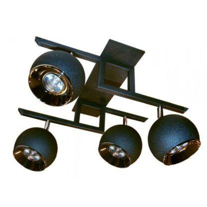 metalowa lampa sufitowa kule, reflektoory
