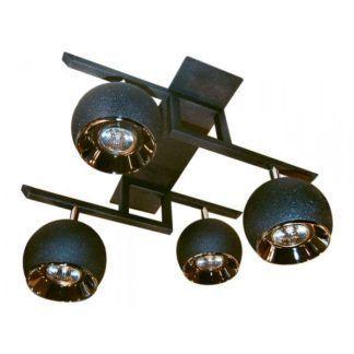 Lampa sufitowa Kula - AV-Lighting - 4 żarówki - grafitowa