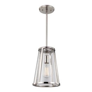 Mała lampa wisząca w stylu Hampton - Sutton - Ardant Decor - szklana, srebrna