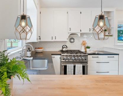 lampa wisząca do kuchni - szklana