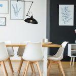 lampa wisząca nad stół - czarny kinkiet regulowany