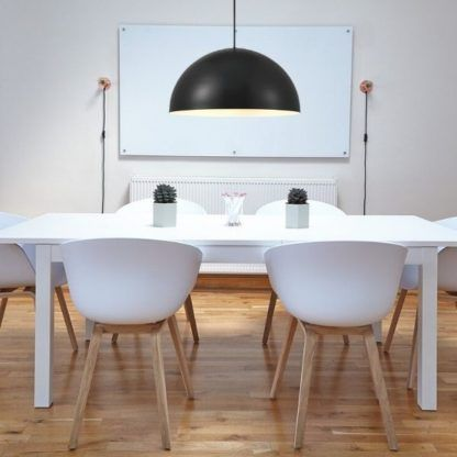 lampa wisząca półkula nad stół - do kuchni