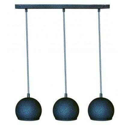 lampa wisząca na 3 klosze kule, nowoczesna