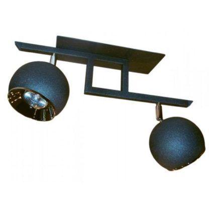 nowoczesna lampa sufitowa, kule, reflektory, grafit