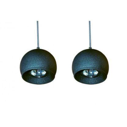 lampa wisząca, podwójna, grafitowa