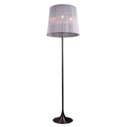 lampa podłogowa z kryształkami