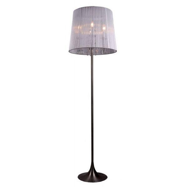 lampa podłogowa w stylu glamour, srebrna podstawa
