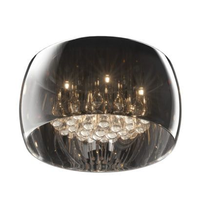 duży plafon szklany z kryształkami