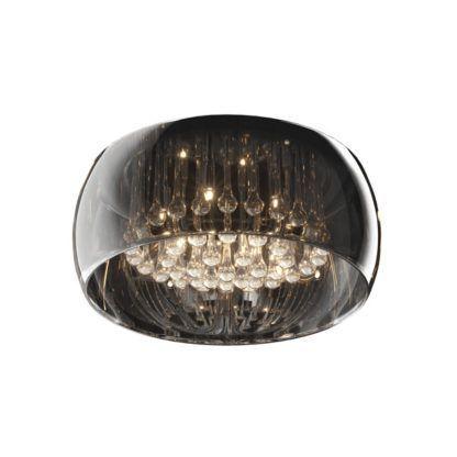 plafon szklany w stylu glamour