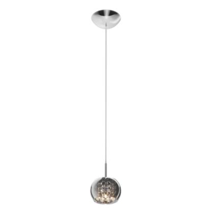 lampa wisząca z kryształkami, mały klosz