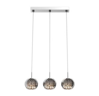 Lampa wisząca - Crystal 3 - Zuma Line - szkło, kryształki