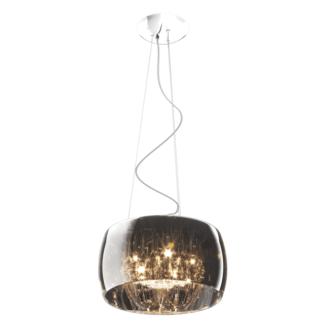 Lampa wisząca - Crystal 40cm - Zuma Line - szkło, kryształ, chrom