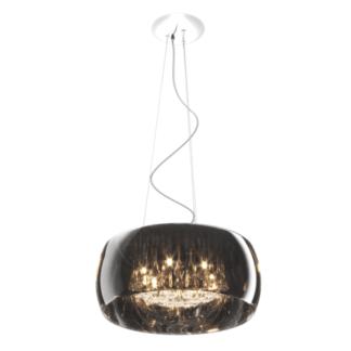 Lampa wisząca - Crystal 50cm - Zuma Line - szkło, kryształki