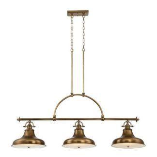 Potrójna lampa wisząca - Bistro - brąz, metalowa - Ardant Decor