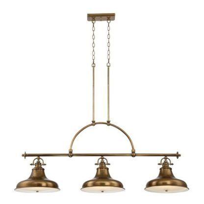 brązowa lampa wisząca nad bar