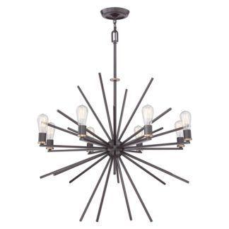 Nowoczesny żyrandol - Sputnik - wiszący, brązowy, 8 żarówek
