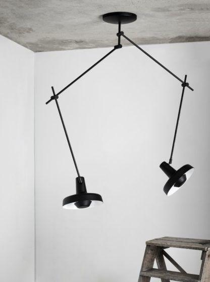 lampa wisząca czarne ramiona z regulacją