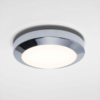 Mała lampa sufitowa Dakota 18 - Astro Lighting szklana - IP44, chrom