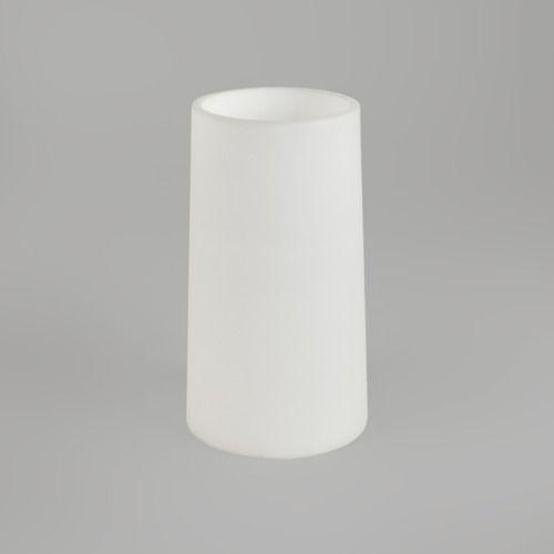 biały, szklany abażur/klosz