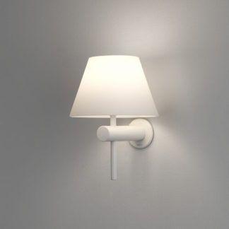 Elegancki kinkiet Roma Astro Lighting - biały - szklany klosz, IP44