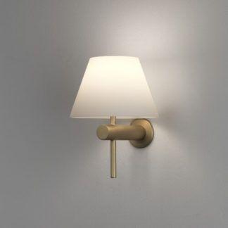 Elegancki kinkiet Roma Astro Lighting - złoty mat - szklany klosz, IP44