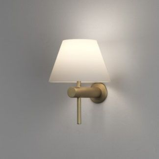OUTLET Elegancki kinkiet Roma Astro Lighting - złoty mat - szklany klosz, IP44