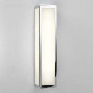 Podłużny kinkiet Mashiko - Astro Lighting - szklany, chrom, IP44, świetlówka
