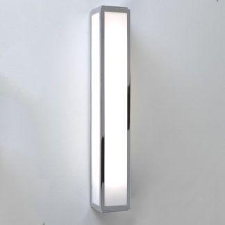 Podłużny kinkiet Mashiko 50 - Astro Lighting - szklany, chrom, IP44, świetlówka