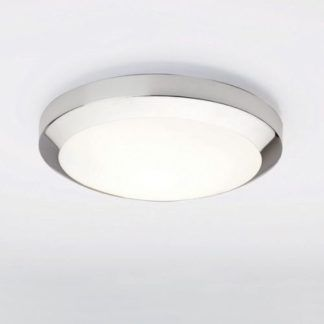 Lampa sufitowa Dakota - Astro Lighting szklana - IP44, chrom