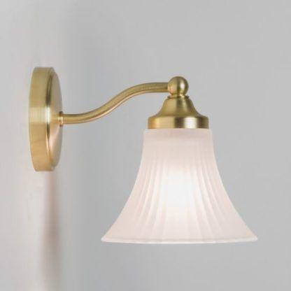 elegancki kinkiet łazienkowy biało-złoty