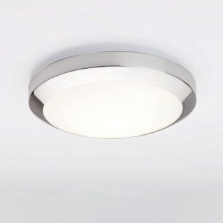 Lampa sufitowa Dakota - Astro Lighting szklana - IP44, chrom, świetlówka