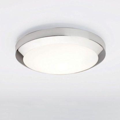 nowoczesny plafon ze szklanym dyfuzorem, świetlówka