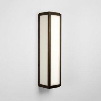 Nowoczesny kinkiet Mashiko Classic - Astro Lighting - IP44, szklany, brązowy