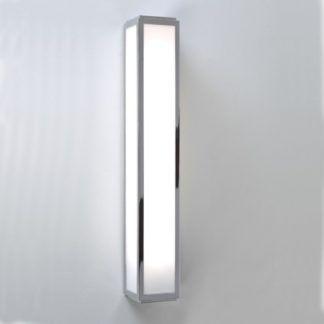 Podłużny kinkiet Mashiko 60 - Astro Lighting - szklany, chrom, IP44, LED