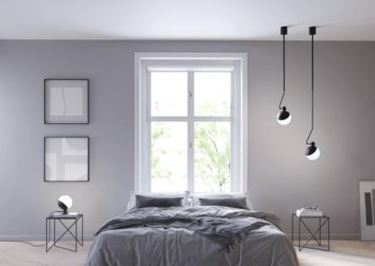 lampa wisząca do sypialni aranżacja nowoczesna