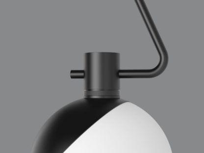 biało-czarna lampa wisząca