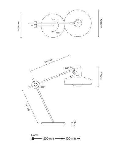 Nieduża lampa biurkowa Arigato - Grupa Products
