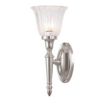 Klasyczny kinkiet Chic szklany - srebrny - IP44