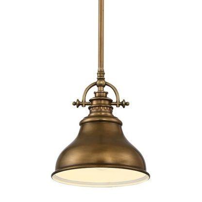 industrialna lampa wisząca brąz