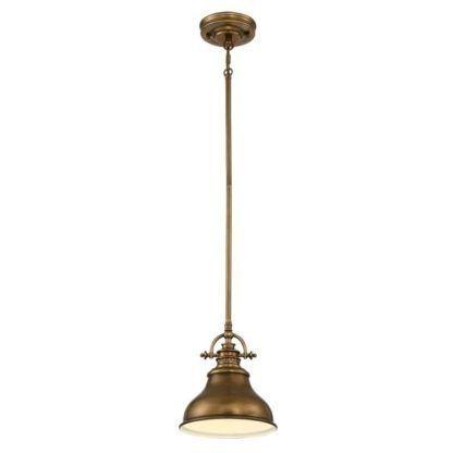 nieduża, industrialna lampa wisząca
